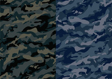 Camouflage Abstract Pattern, Military Camouflage Pattern Design Element For Army Background,  Printing Clothes, Fabrics, Sport T-shirts Jersey, Web Banners, Posters, Cards And Wallpapers