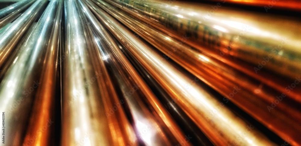 Fototapeta Full Frame Shot Of Metallic Pipes