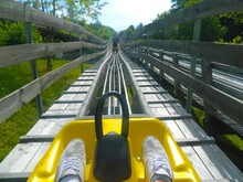 Low Section Of Person On Amusement Park Ride