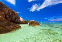 Famous Beach Source D'Argent At Seychelles