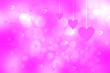 canvas print picture - Wedding or valentine day card template. Abstract festive blur bright pink pastel background with pink hearts love bokeh for wedding day. Romantic textured backdrop with space.