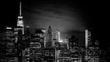 Fototapeta Fototapeta Nowy Jork - Illuminated Buildings In City At Night