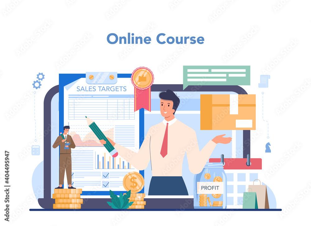 Fototapeta Commercial director online service or platform. Business