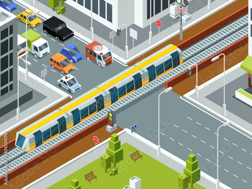 Canvastavla Railway crossing isometric