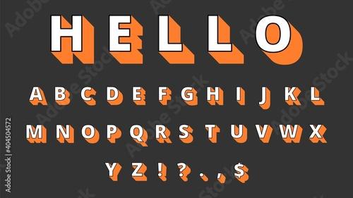 Canvas 3d typeface