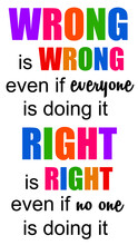 Wrong Versus Right