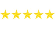 3d Stars, Yellow And Gold. Set Of Vector Icons. Approval, Evaluation, Feedback, Positive Rating. Five Stars, Feedback For  Applications And Websites.