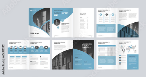 Fototapeta template layout design with cover page for company profile, annual report, brochures, flyers, presentations, leaflet, magazine, book .and a4 size scale for editable. obraz