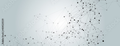 Fotografiet Abstract illustration with abstract connect lines for wallpaper design