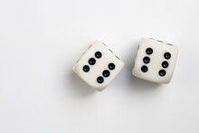 Game Of Chance, Gambling Concept. Dice Of Luck.