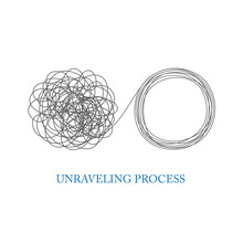Tangled And Unraveled Tangle Problem Solving Concept