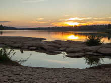 Sunset At Mekong River,Khong Chiam District,Ubonratchathani,Thailand.