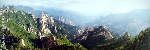 Cuadros en Lienzo Panoramic View Of Landscape And Mountains Against Sky