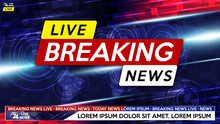 Breaking News Live On World Map Background. Background Screen Saver On Breaking News.