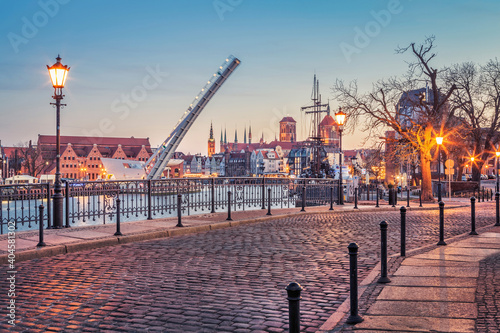 Obraz The city of Gdansk in Poland, one of the most beautiful cities in Europe - fototapety do salonu