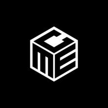 MEC Letter Logo Design With Black  Background In Illustrator, Cube Logo, Vector Logo, Modern Alphabet Font Overlap Style. Calligraphy Designs For Logo, Poster, Invitation, Etc.
