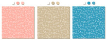 Set Of Three Pink, Beige, Blue Vector Seamless Patterns With Handwritten White Mathematical Formulas, Calculations On Squared Paper. Mathematical Analysis, Limits Theme