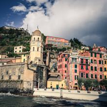Village Of Vernazza In Cinque Terre, Italy