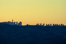 Belo Horizonte And Nova Lima Skyline At Saunset
