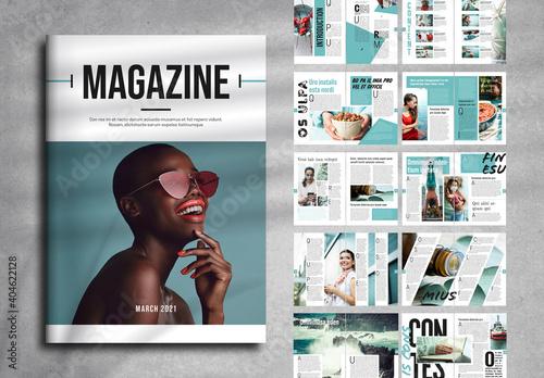 Fototapeta Magazine Layout obraz
