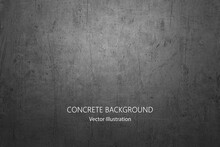 Vector Gray Concrete Texture. Metal Background With Scratches.