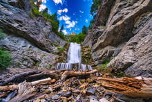 Upper Falls In Provo Canyon - Utah