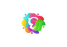 Letter E Logotype Gradient Colorful, Logo Template Design Vector.