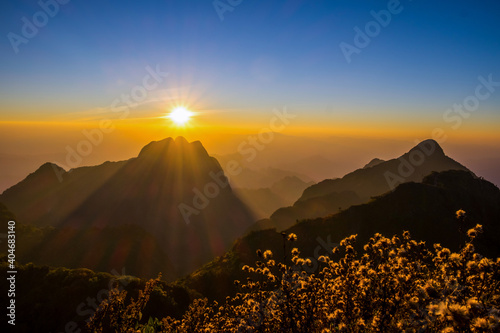 Obraz Scenic View Of Mountains Against Sky During Sunset - fototapety do salonu