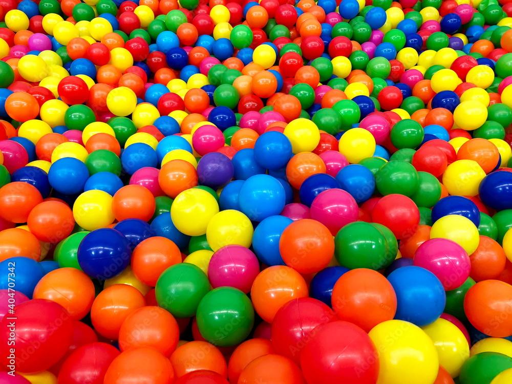 Fototapeta Full Frame Shot Of Multi Colored Balls