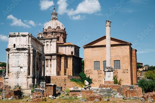 Fototapeta Roman Forums in Rome, Italy