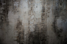 Texture Of Old Gray Concrete Wall For Dark Background.