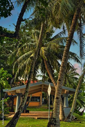 Billede på lærred beachside pavilion