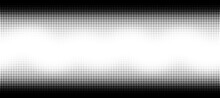 Halftone Wave. Seamless Pattern. Abstract Dotted Background. Texture Of Black Dots. Monochrome Gradient Background. Vector Illustration.