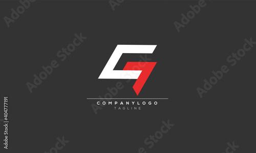 Obraz CG GC C7 C AND G Abstract initial monogram letter alphabet logo design - fototapety do salonu