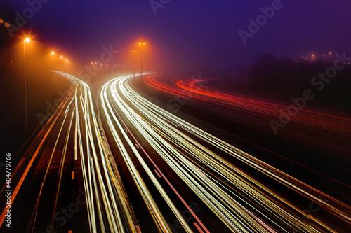 Fotografiet Highway in the dark