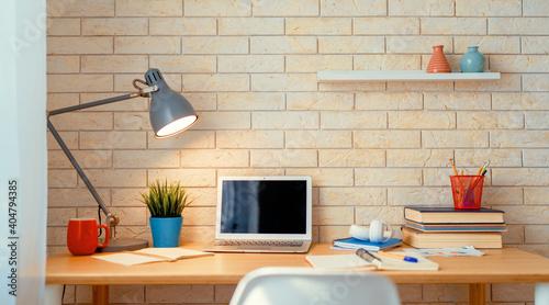 Obraz Office workplace with laptop - fototapety do salonu