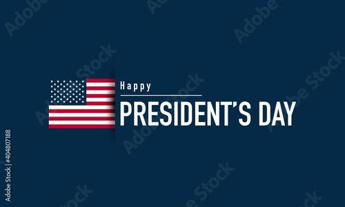 Obraz na plátně President's Day Background Design. Vector Illustration.