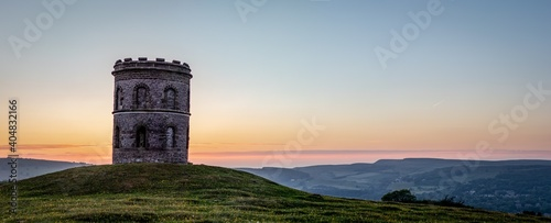Old Built Structure Against Sky During Sunset Wallpaper Mural