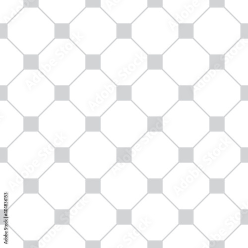 Fotografiet Wired lines seamless texture gray color hex shapes grid on white