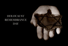 Star Of David And Text Holocaust Remembrance Day