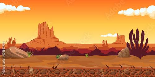 Sunset on a background of a landscape. Fototapet