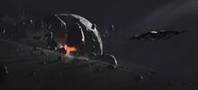 Destroyed Planet, Science Fiction Illustration.