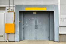 Old Industrial Warehouse Door