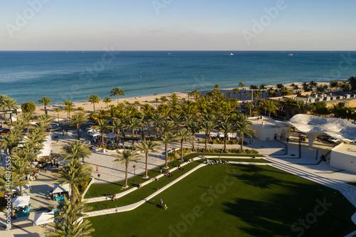 Fort Lauderdale Las Olas Beachside Park aerial view Fototapeta