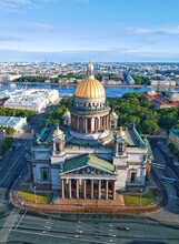 High Angle View Of St Isaac Cathedral
