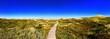 Leinwandbild Motiv Scenic View Of Landscape Against Clear Blue Sky