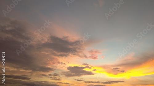 Fototapety, obrazy: sunset in the sky