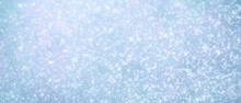Blue Elegant Festive Shiny Shining Abstract Background With Many Sparks And Glitter