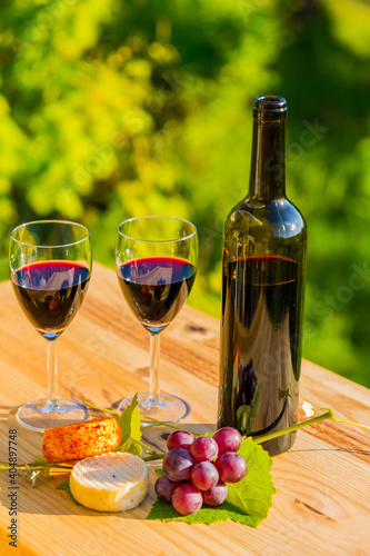 Fototapety, obrazy: food and wine