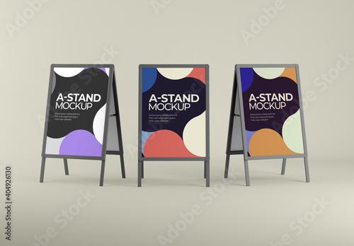 Obraz A-Stand and Board Mockup - fototapety do salonu